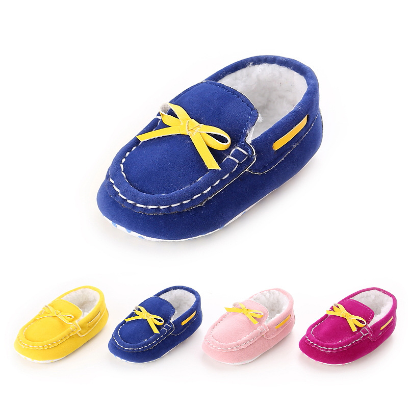 Autumn Winter New Arrivals Childrens Shoes Plus Cotton Baby Shoes Thicker Infant Newborn Shoes Candy Color Keep Warm 230