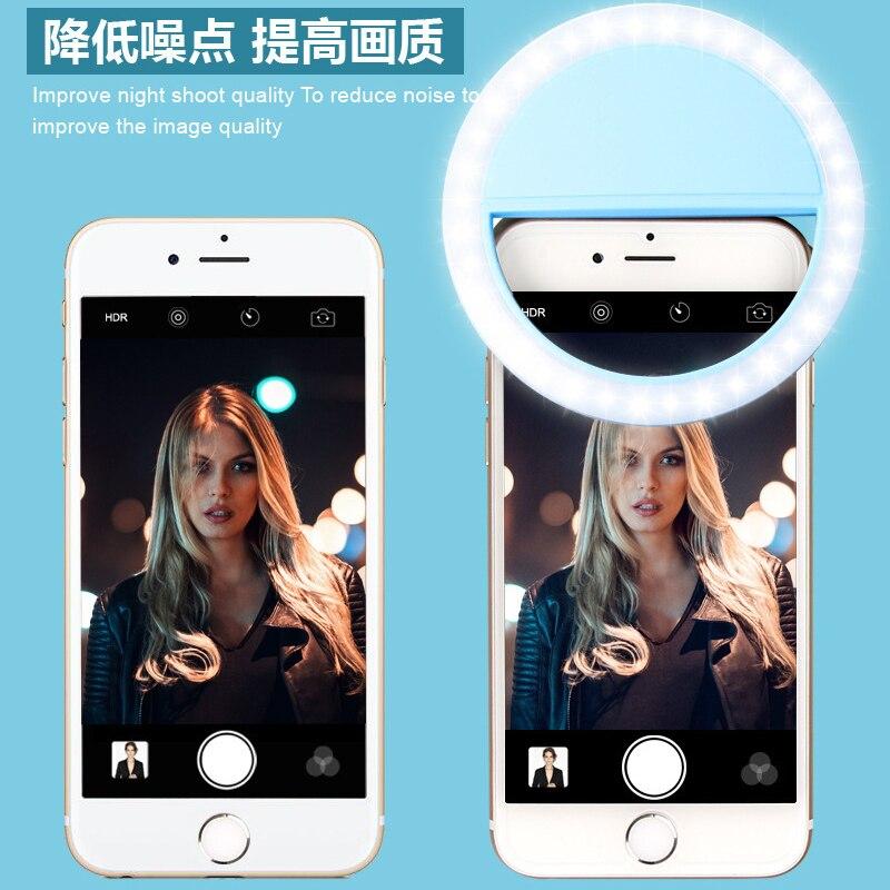 Z50 Mini Beauty Light Ring LED Portable Light Case Phone Light Beauty Selfie Ring Flash Fill Light For All Phones