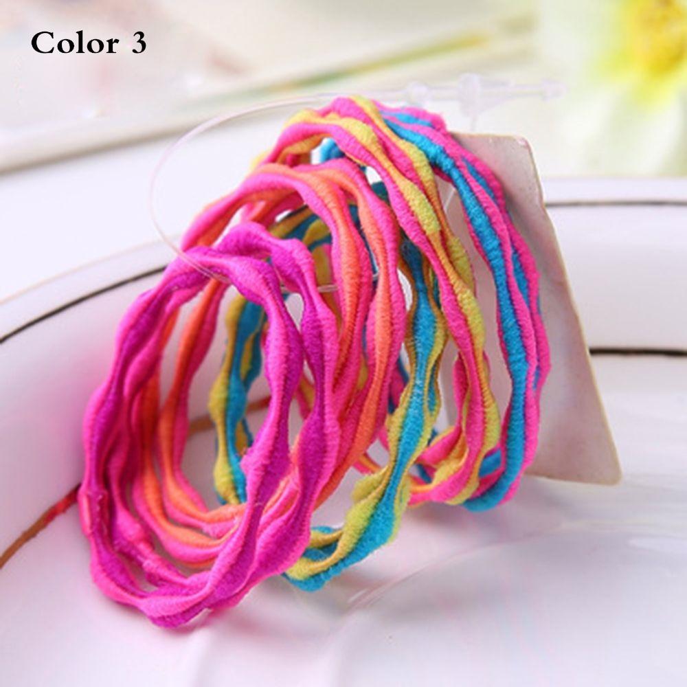 Korean Version of High-elastic Children's Hair Circle Beans Striped Styles Elastic Ponytail Holder Hair Rope Hair Styling Tools