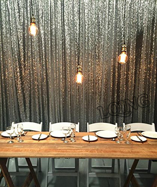 20FTx10FT Silver Gold Shimmer Sequin Backdrop Sequin Curtains WeddingPhoto Booth Props Glitter DIY Party Wedding Decorations