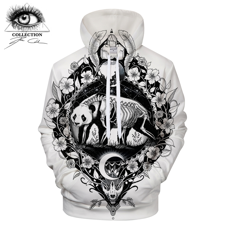 Panda By Pixie coldArts 3D Print Hoodies Men Women Casual Sweatshirt Tracksuit Brand Pullover Boy Hooded Jackets White DropShip