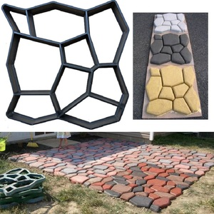 Image 1 - Cross border for European and American hot selling cement floor tiles DIY paving mold pavement mold