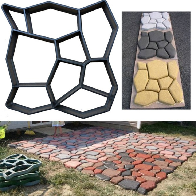 Cross border for European and American hot selling cement floor tiles DIY paving mold pavement mold