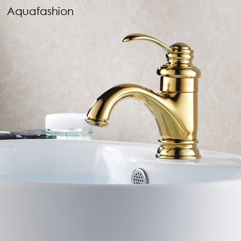 Antique Design Gold Basin Faucets Brass Bathroom Sink Basin Mixer Tap Single Handle Gold Basin Faucet donyummyjo new design luxury single handle hot and cold tap antique brass faucets bathroom faucet basin sink mixer tap swan neck