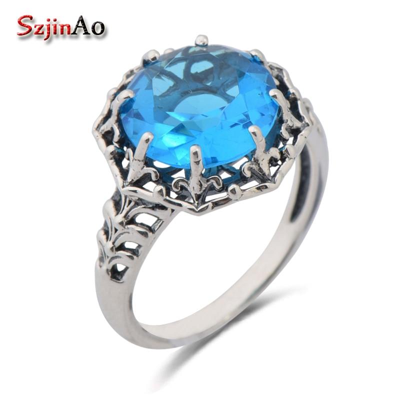 TURC Handmade Jewelry 925 Sterling Silver Multi Stone Femmes ring sz 7