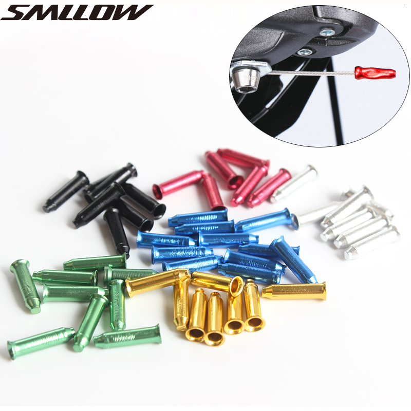 Aluminum Alloy Bicycle Brake Cable Tips Crimps End Caps Core Inner Wire Ferrules