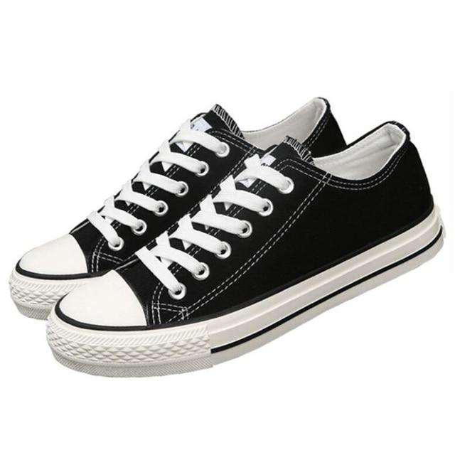 2017 Nueva Primavera Zapatos de Lona de la Mujer de Encaje Hasta Zapatos de Los Planos Mujeres ocasionales de Los Planos Zapatos de Las Mujeres Cómodas Mocasines Más El Tamaño 35-40 cd63
