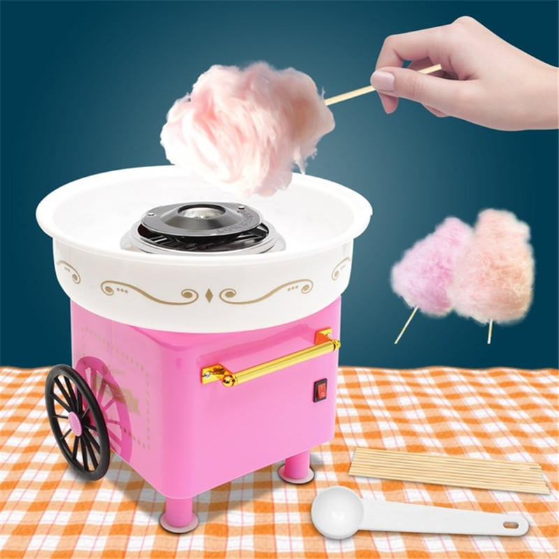 Cotton Candy Maker Electric Mini Household DIY Sugar Machine For Cotton Candy Sweet Floss Food Processors Machine Kids Gift new 125g sweet candy bean strange taste food snack harry potter jelly beans candy bean boozled halloween christmas gift page 2