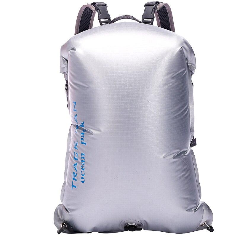 Trackman Portable en plein air PVC étanche sac de plongée voyage sacs secs Kayak canoë Rafting sac 30L étanche Double-sac à bandoulière
