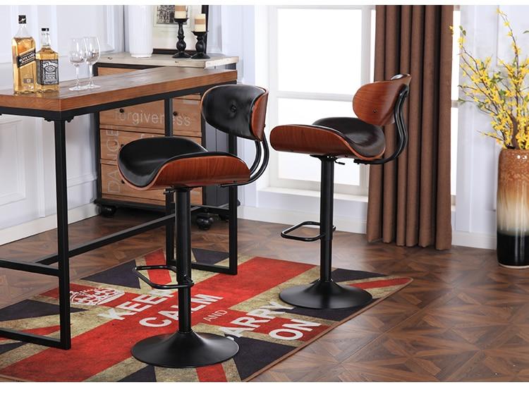 Americano nero sedie da bar ristorante dellhotel bianco sgabello