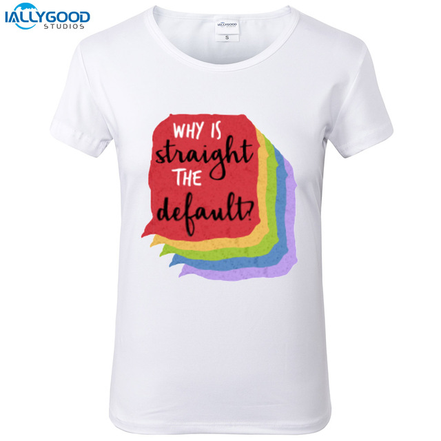 Love Simon T-Shirt Women Fashion Why is Straight the Default  Printed T  Shirts O-neck Soft Short Sleeve Casual White Tops S1709 9d40d50845ebd