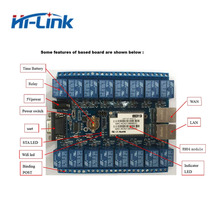 Free shipping 16 channels digital control switch relay module smart home automation WIFI relay HLK SW16