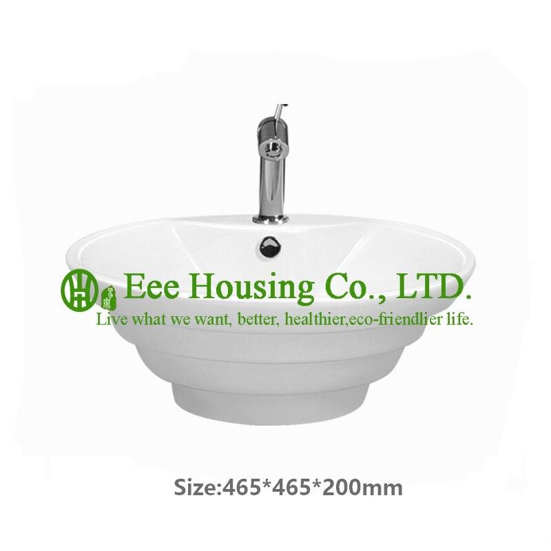 Керамика бассейна сантехники ванная комната Душ шампунь для волос Шкаф Настенный Круглый раковиной
