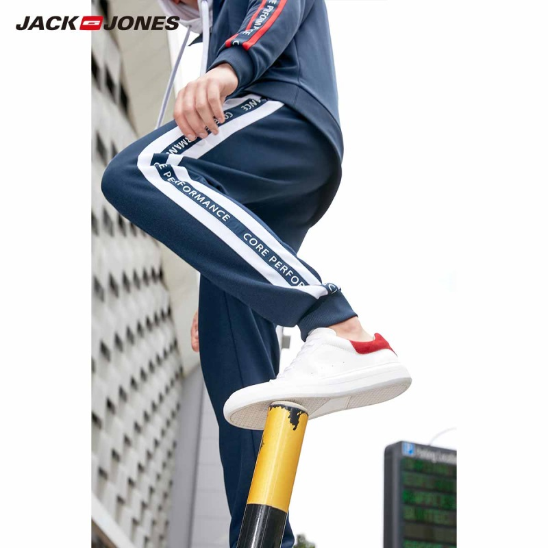 JackJones Men's Stretch Letter Printed Sweatpants Jogger Pants For Menswear 2019 New 219114532
