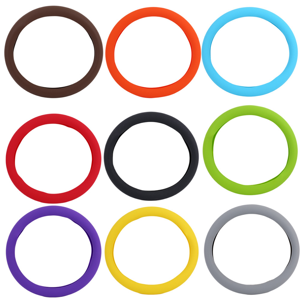 2017 6 style Fashional Decoration New Soft Silicone Steering Wheel Cover Shell Skidproof Odorless Eco Friendly