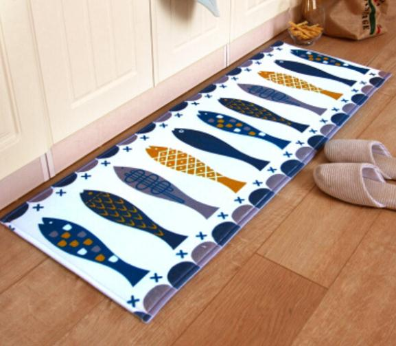 Fish Rug Kitchen Mat 40*120cm Anti Slip Kitchen Mat Long