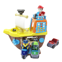 New Paw Patrol Boat Dog Sea Rescue Ship Base Set Vehicle Toy Anime PVC Action Figures Model Toys Kids Birthday Best Gift