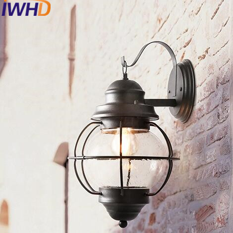 Iwhd glass led wall light vintage industrial lighting wall lamp iwhd glass led wall light vintage industrial lighting wall lamp stairway lighting loft retro outdoor lights iron arm sconce in led indoor wall lamps from audiocablefo
