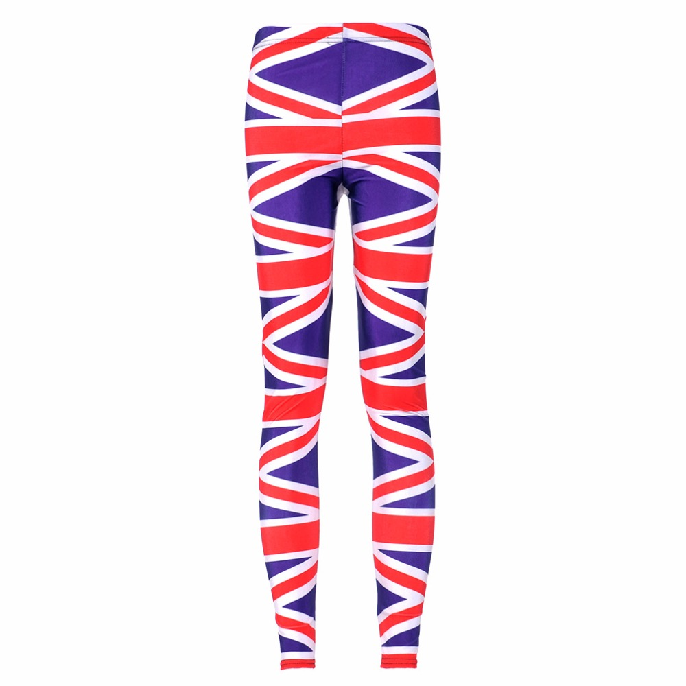 New 3027 Sexy Girl Pencil Pants Union jack American England Flag Printed Running font b Fitness