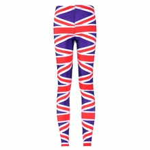 New 3027 Sexy Girl Pencil Pants Union jack American England Flag Printed Running Fitness Sport Women Yoga Pants Plus Size