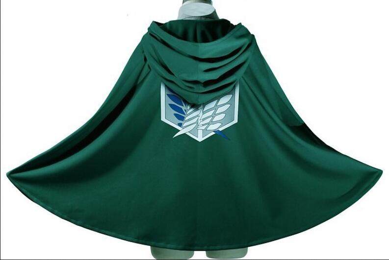 Attack on Titan Cloak Shingeki no Kyojin Scouting Legion Cosplay Costume anime cosplay green Cape mens clothes