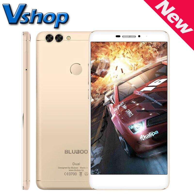 Цена за Оригинальные BLUBOO Двойной 4 Г LTE Мобильный Телефон Android 6.0 2 ГБ ОПЕРАТИВНОЙ ПАМЯТИ 16 ГБ ROM MTK6737T Quad Core 1080 P 13MP Камера 5.5 дюймов Сотовый телефоны смартфон