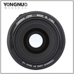 Широкоугольный объектив YONGNUO 35 мм f2 с фиксированным автофокусом для Canon EOS 60D 70D 5D2 5D3 7D2 750D 650D 6D 77d 500d 5d mark iv
