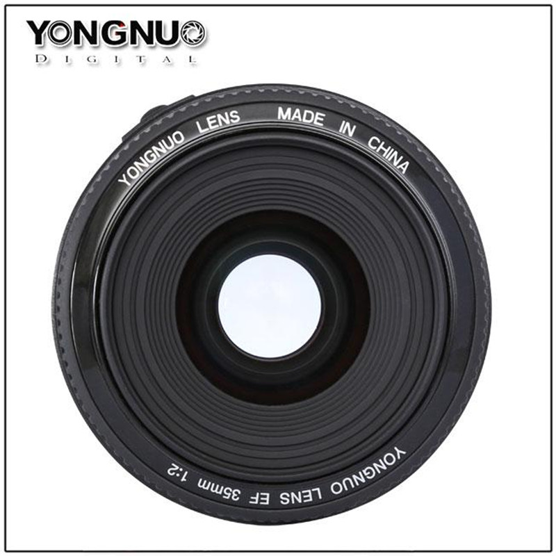 YONGNUO 35mm f2 Wide-Angle Fixed Auto Focus Lens YN35mm For Canon EOS 60D 70D 5D2 5D3 7D2 750D 650D 6D 77d 500d 5d mark iv original yongnuo 35mm f2 lens yn35mm large aperture auto focus lens for canon eos 5d mark iii 450d 60d 7dii 6d dslr camera 35mm