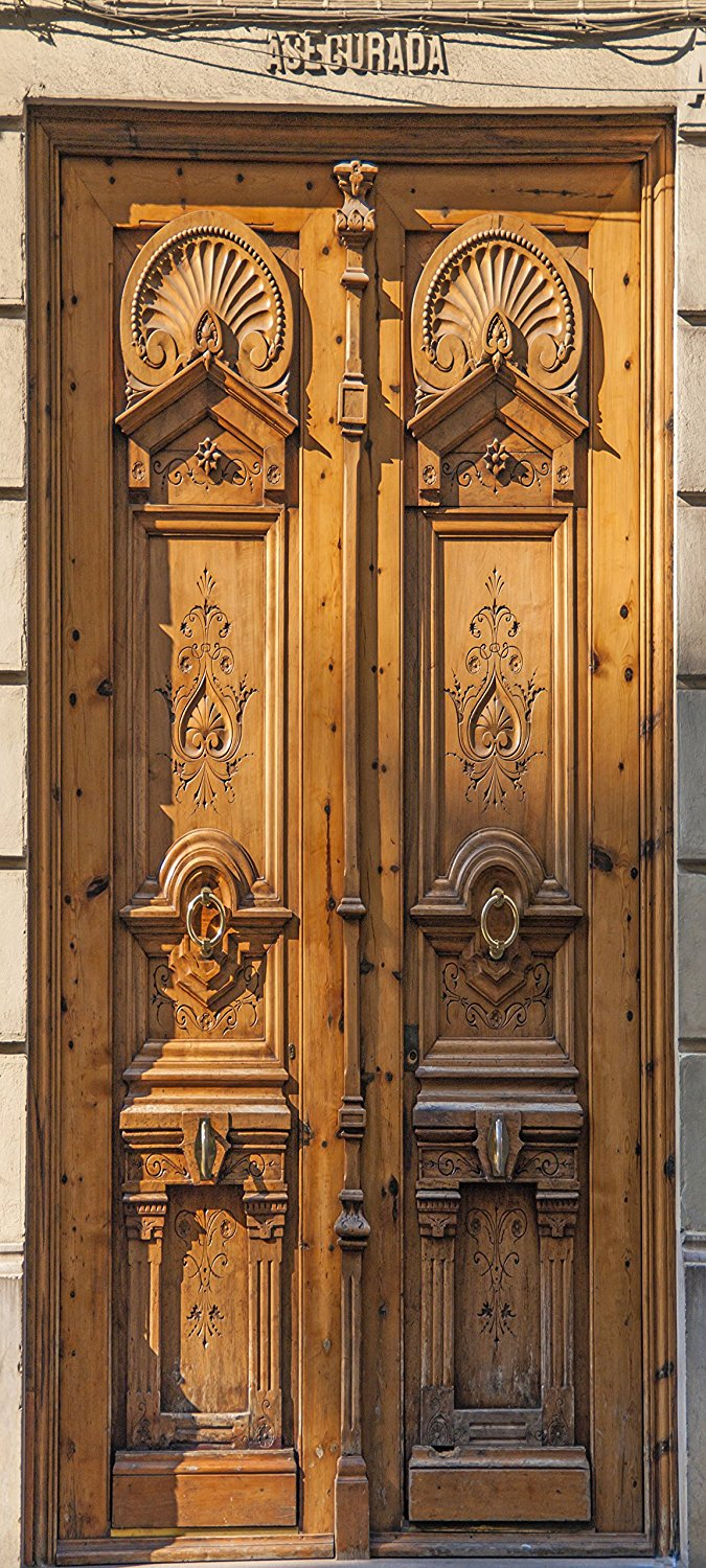 3d Architectural Carved Doors In Mexico Door Sticker For Bedroom Living Room Gift Art Pvc
