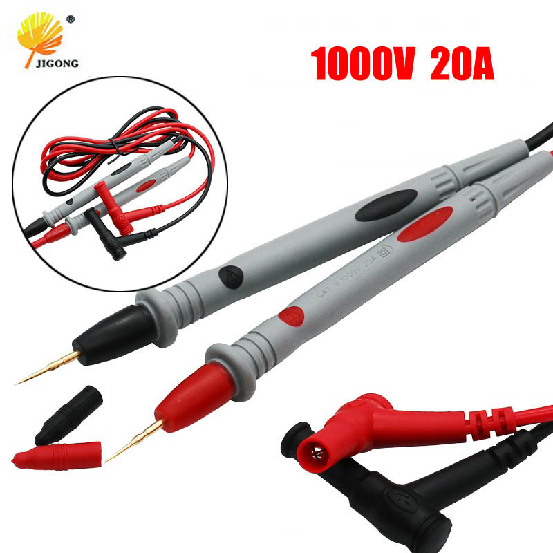 цена на 1 Pair Universal Probe Test Leads Pin for Digital Multimeter Needle Tip Meter Multi Meter Tester Lead Probe Wire Pen Cable 20A