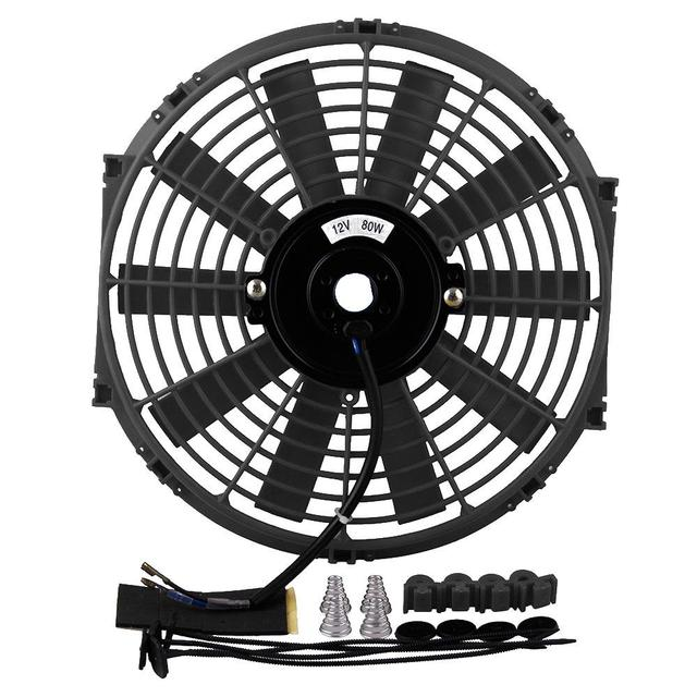 12 Inch 12v 80w Electric Universal Auto Cooling Radiator Fan Push Pull Slim