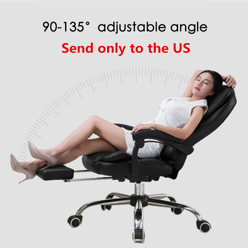Chaise de bureau en cuir chaise de jeu de bureau avec fonction de Massage ajuster la hauteur de siège hôtels Internet cafés restaurants salon de voiture