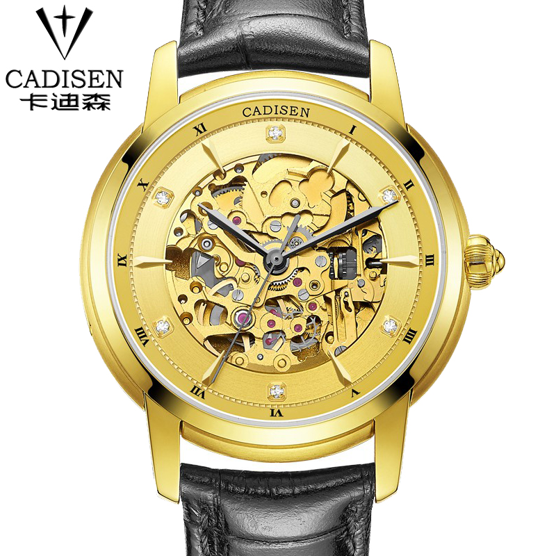New Arrival CADISEN Leather Strap Mechanical Watches Fashion Formal men Dress Watch hot black brown leather watch for male ноутбук lenovo thinkpad x1 carbon 14 intel core i5 2500мгц 8гб ram 256гб черный windows 10 домашняя