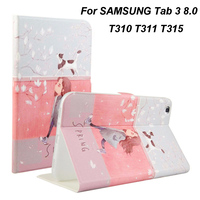 Tablet Case For Samsung Galaxy Tab 3 8 0 SM T310 T311 T315 Smart Case Cover