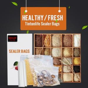 Image 5 - Tinton生活の台所食品真空バッグ保存袋真空シーラー食品新鮮なロング維持 12 + 15 + 20 + 25 + 28 センチメートル * 500 センチメートル 5 rolls/ロット
