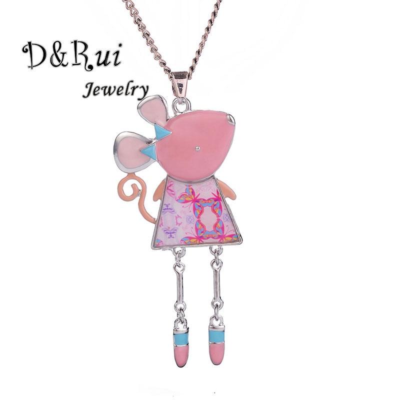D&Rui Jewelry Enamel Necklace For Women Girls Kids Children Cartoon Animal  Mouse Necklaces & Pendants Party Pendant Accessories|Pendant Necklaces| -  AliExpress