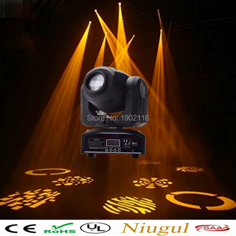 Best quality NEW Mini 30W Led Spot Moving Head Light With Gobo Plate&Color Plate DMX stage disco dj lighting LED Patterns lamp high quality mini 10w led spot moving head 7 gobo stage light disco dj dmx512 rgbw stage effect projector stereotypes packaged