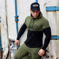 2018 New Hoodies Men Brand Male Long Sleeve Hoodie Splicing Sweatshirt Mens Moletom Masculino Camouflage Hoodies