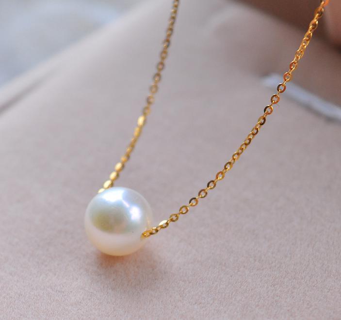 Новинка, простое модное высококачественное жемчужное ювелирное изделие, колье, Золотая цепочка, массивное ожерелье и кулоны, подарки для женщин - Окраска металла: Золотой цвет