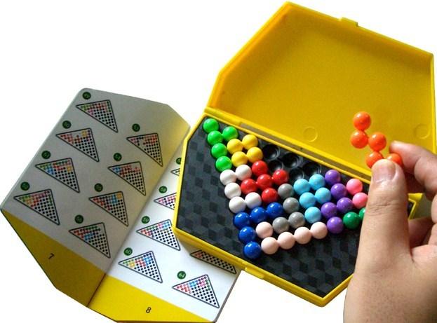 Kvalitet Plastic IQ Logic Puzzle Mind Brain Teaser Perler Tangram - Puslespill - Bilde 4