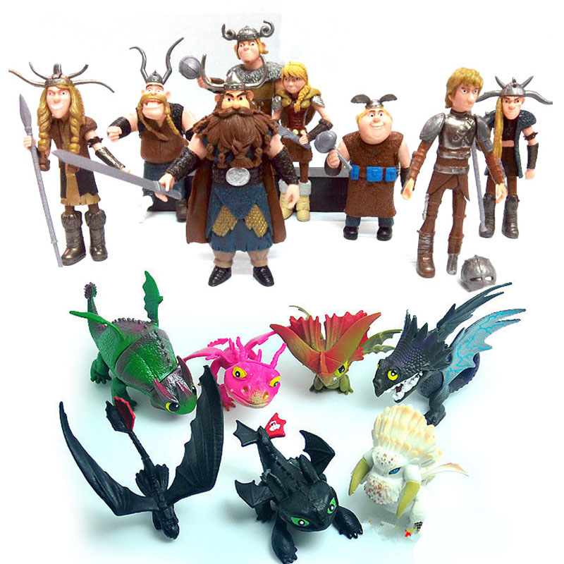 21 pcs Hiccup Night Fury Astrid How to Train Your Dragon Lot Action figures Toys