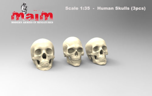 1/35 RESIN Skulls Set Modern Parts  Resin Model Miniature  Figure Unassembly Unpainted