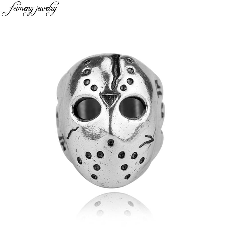 Black Friday Hockey Jason Mask SKull Ring Halloween Biker Finger Rings Personalized Men Punk Jewelry Accessories