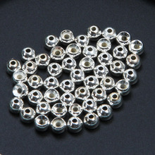 Fly Fishing 50pcs / lot Tungsten Fly Tying Beads Fly Fishing Nymph Head Ball Beads  Gold Silver Copper Beads