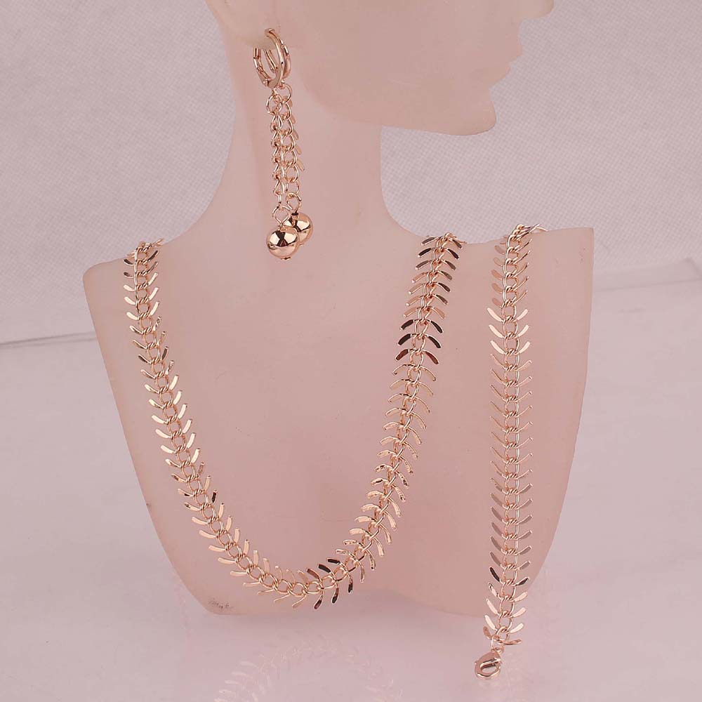 Women Vogue Jewelry Sets 14k Rose Gold Plated Chic Centipede Shape