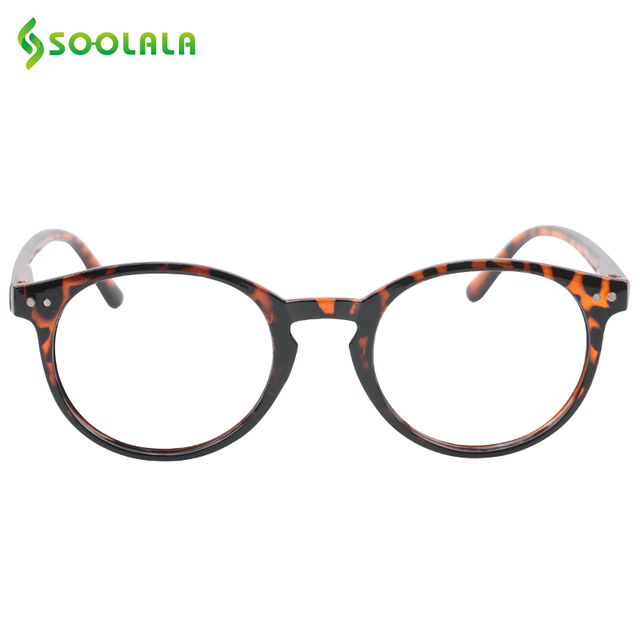 SOOLALA Womens Mens Round Lens Hyperopia Presbyopia Reading Glasses Stylish Spring Hinged Reading Glasses +1.0 1.25 1.5 to 4.0