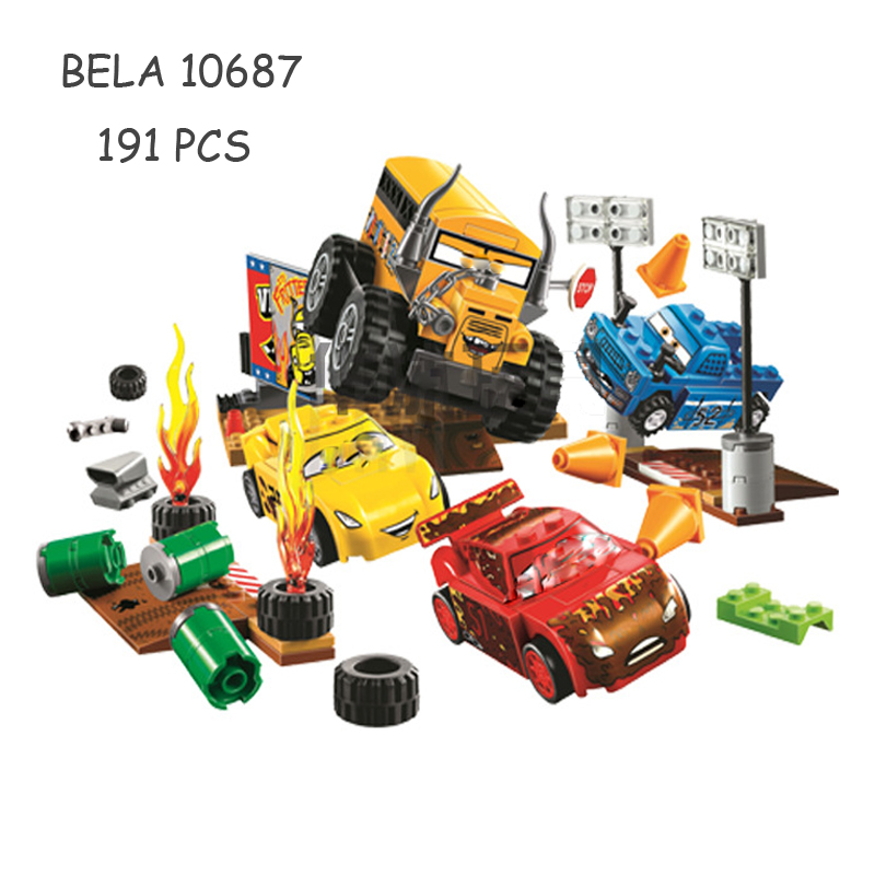 Bela 10687 Cars Movie Series Juniors Thunder Valley Crazy 8 Race