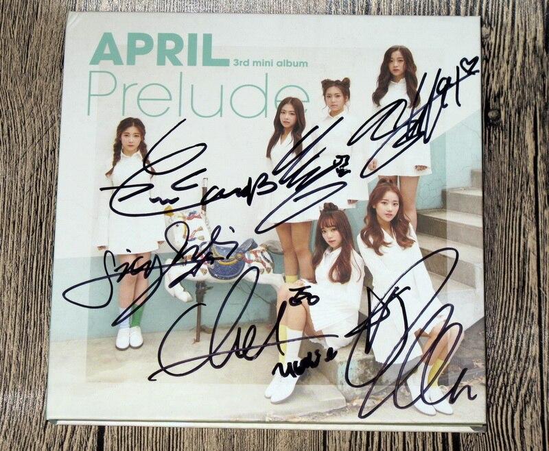 Avril autographié 2017 signé mini 3rd album prélude CD nouvelle version coréenne + affiche dédicacée 012017
