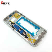 Original New Front Glass Lens Bezel Middle Frame Replacement For Samsung Galaxy S7 Edge G935 Black