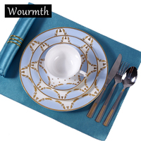 Wourmth Luxury Bone China Dinner Set High Quality Ceramic Dinnerware Sets With Cup And Saucer Tableware